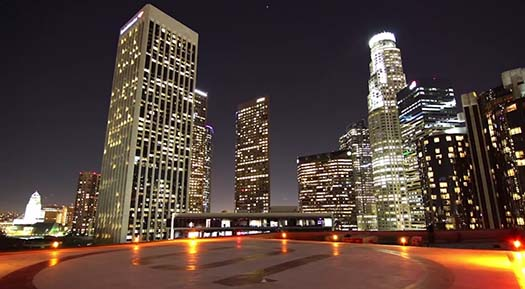 TIme-lapse of Downtown Los Angeles
