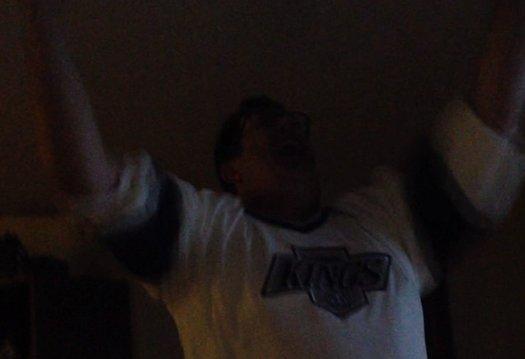 Kings Fan Celebrates Stanley Cup Birth