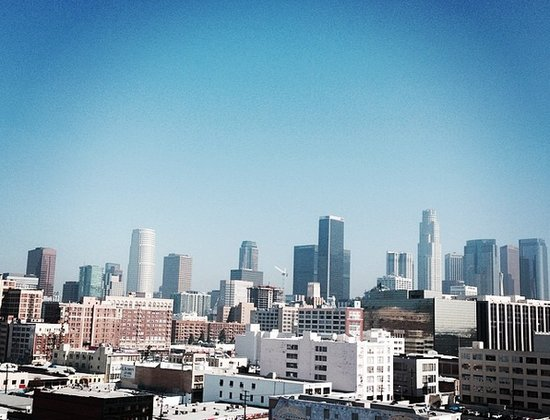 A Blue Sky in Downtown Los Angeles