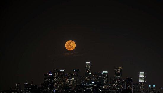 Full Moon Rising over DTLA