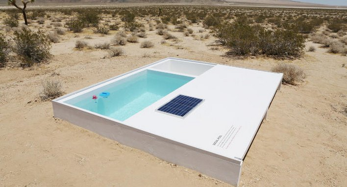 Hidden Pool in the Mojave Desert