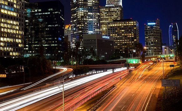 Traffic Time-lapse of the 110 Freeway DTLA