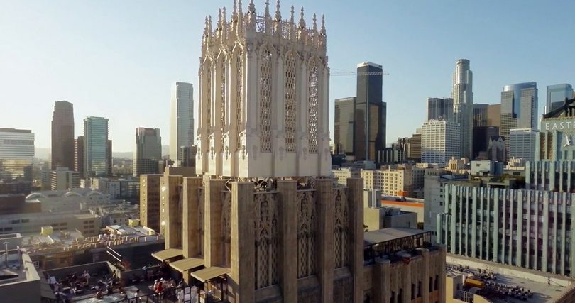 Aerial Drone Footage Over DTLA