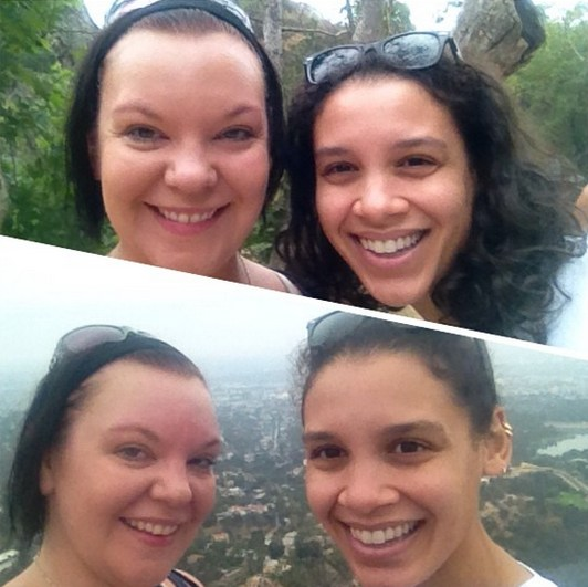 Good Friends at Hollywood Sign