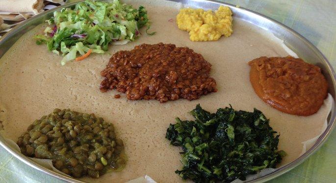 Palm Grove Ethiopian Vegetarian Platter