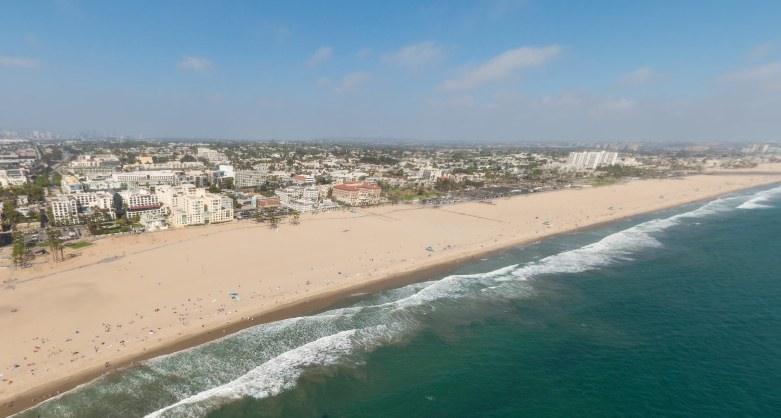 Santa Monica Aerial View