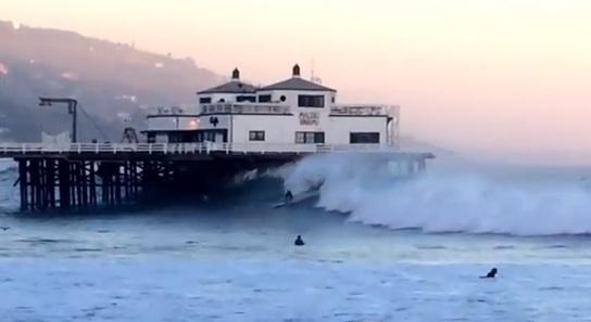 Big Wave Surfing in Malibu