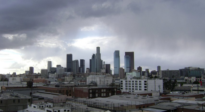 Cloudy Day in Downtown Los Angeles