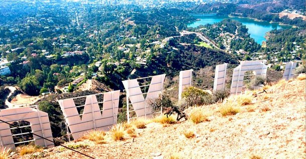 Hollywood Sign Top View