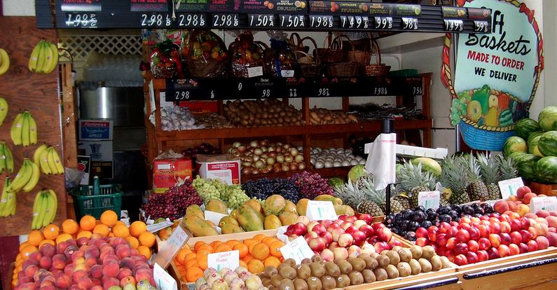 A produce stand at The L.A. Farmers Market. Credit: k lachshand via: flickr