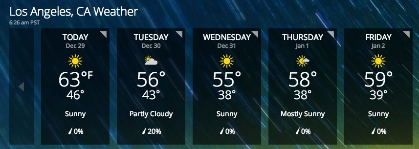 5 day weather forecast los angeles