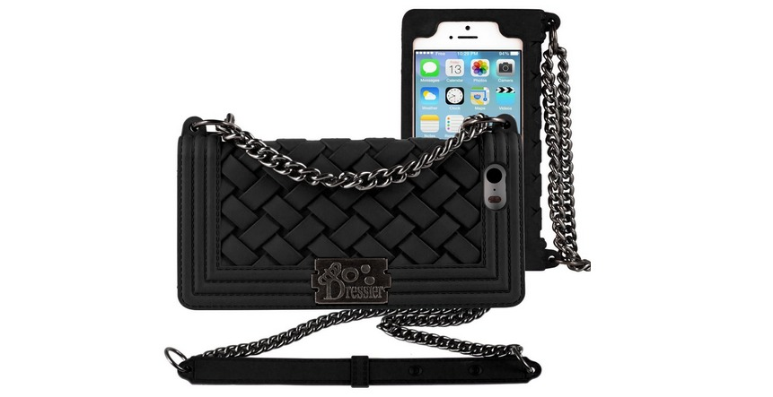 Dressier Braid Purse Wallet iphone Case With Chain Straps