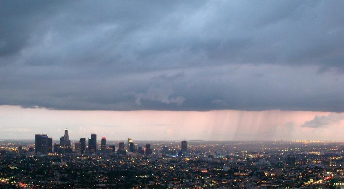 The Rain Over Los Angeles