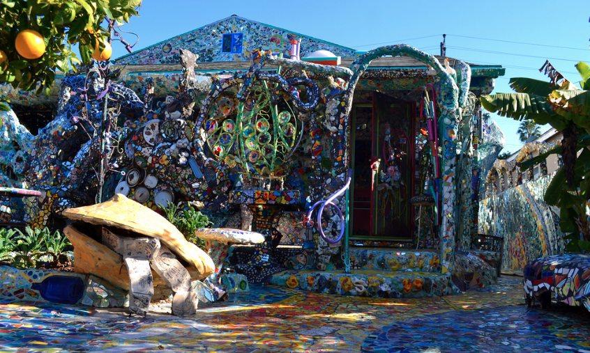Mosaic Tile House Exterior