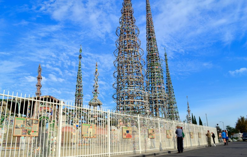 Watts Towers in Los Angeles