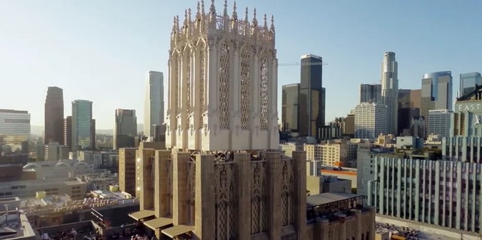 Downtown L.A. Drone Footage