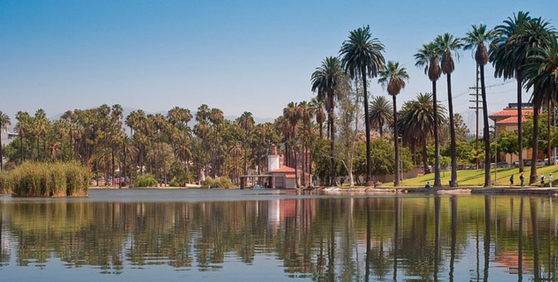 Echo Park Lake Day