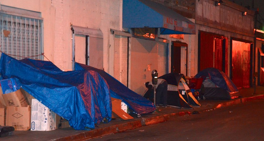 Skid Row Tents Downtown Los Angeles
