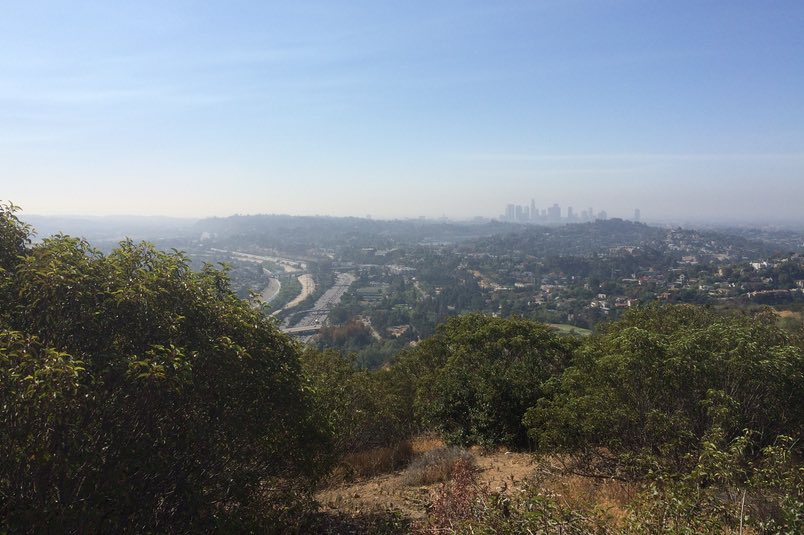 View from atop Beacon Hill in Griffith Park