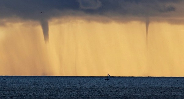 Water Spouts Pacific Ocean