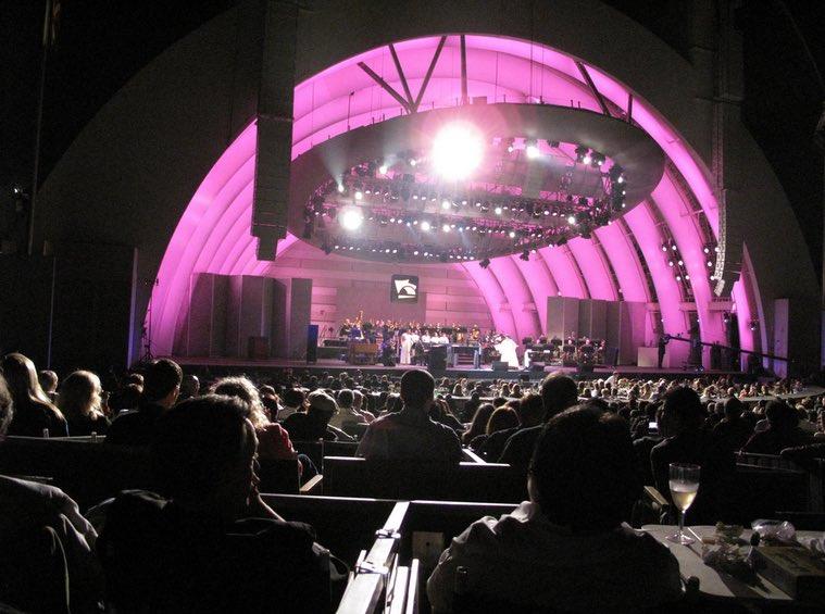 Box Seats at Hollywood Bowl