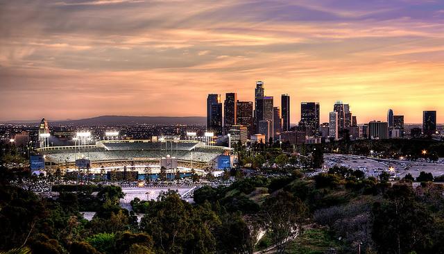 LA Skyline with Dodger Stadium