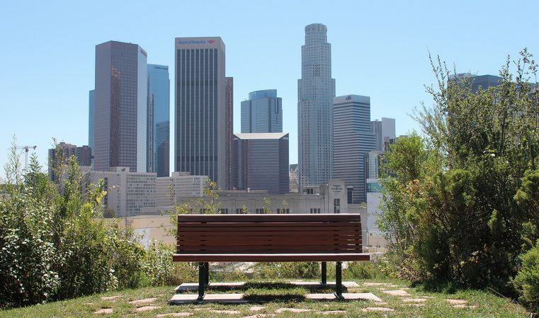Vista Hermosa Park view of Los Angeles