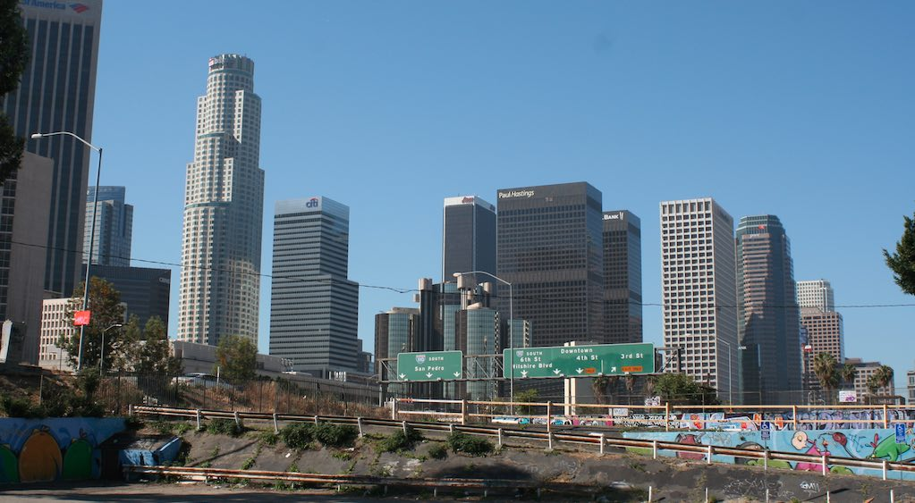Downtown Los Angeles 110 Freeway