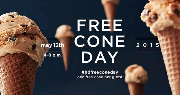 Free Cone Day 2015 Haagen Dazs