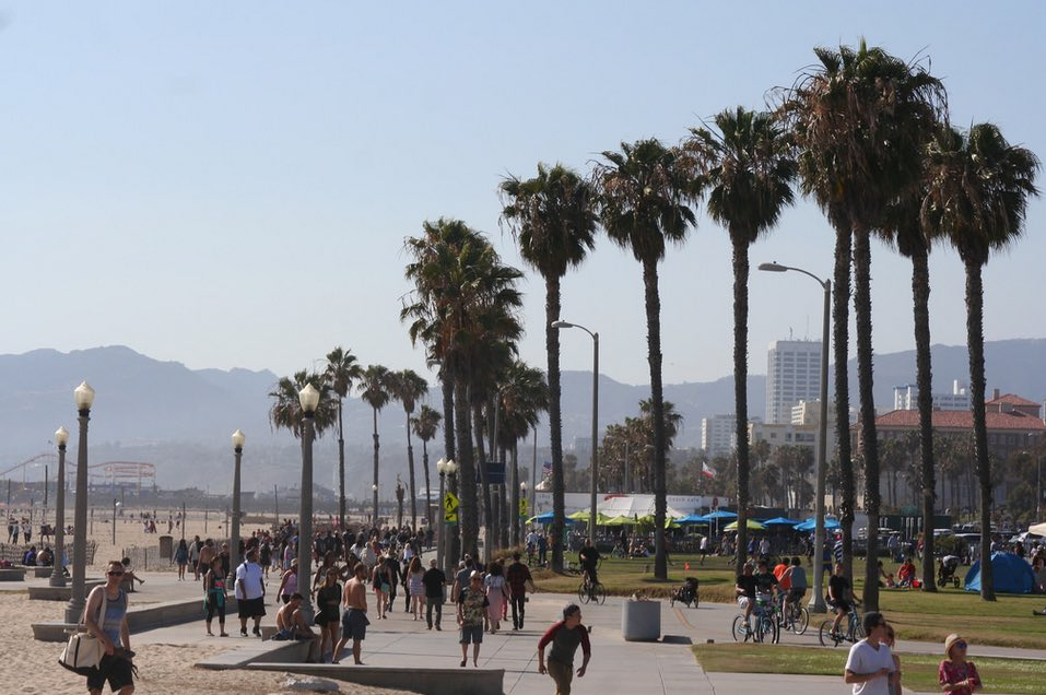 Santa Monica Beach Boardwalk