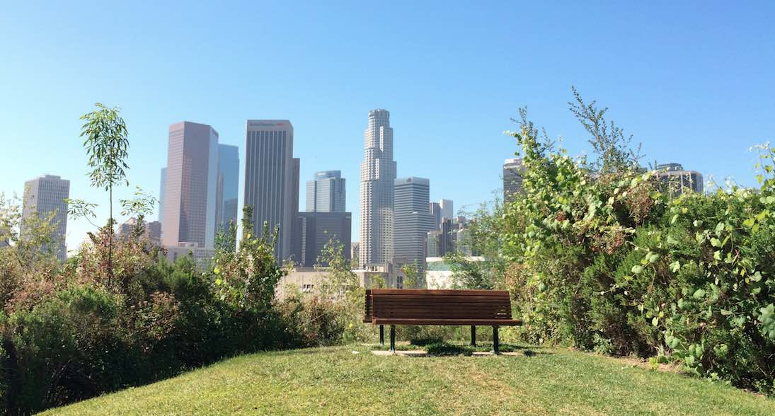 Vista Hermosa Park Empty Bench