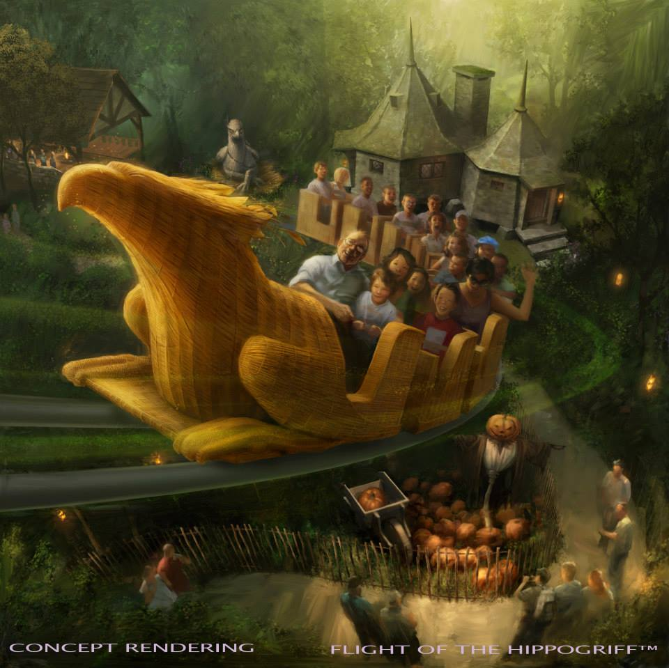 Flight of The Hippogriff Rendering