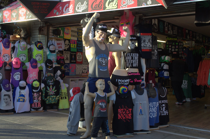This Muscle Beach Mannequin is Showing Off His Guns