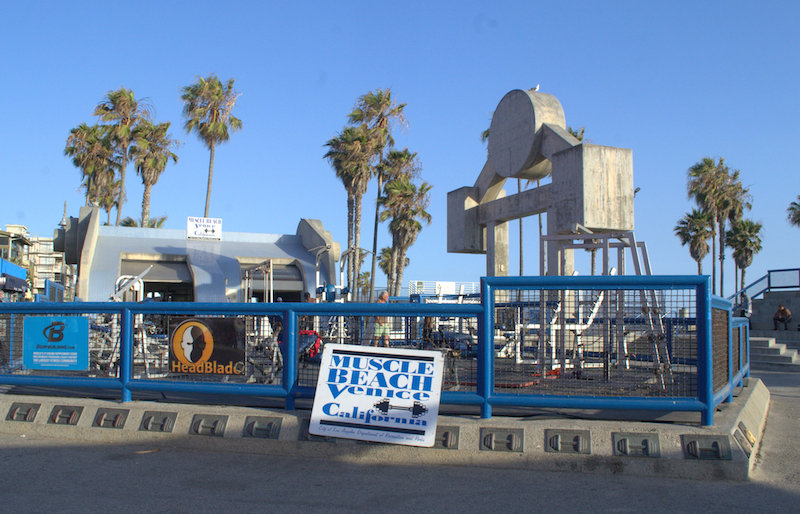 The Muscle Beach Gym on the Venice Beach Boardwalk