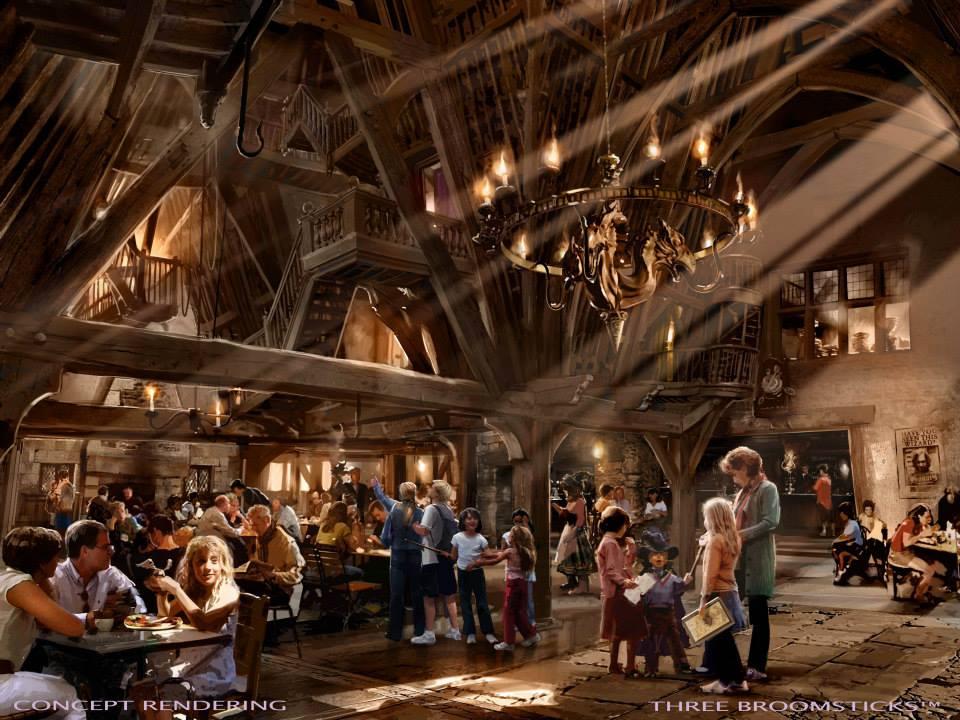 Three Broomsticks Tavern Rendering