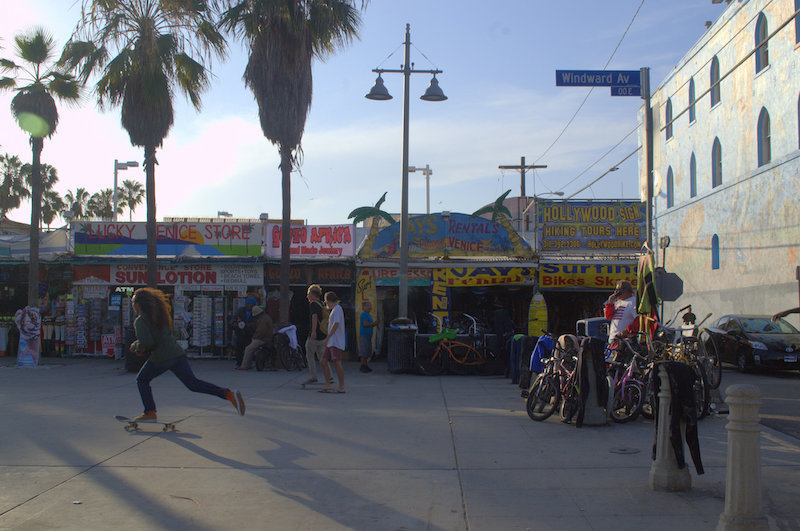 The Entrance to Venice Beach Boardwalk