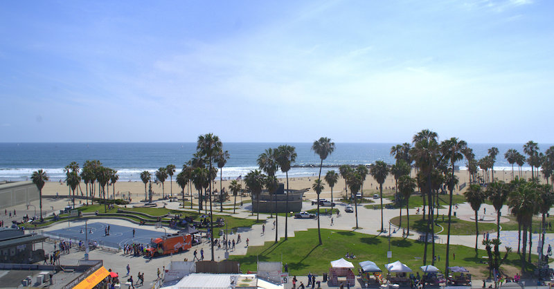 Hotel Erwin Rooftop Bar View of the Venice Boardwalk