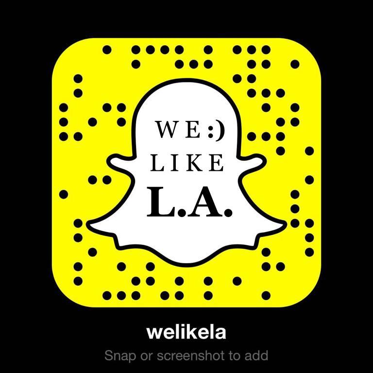 We Like L.A. Snapchat Add