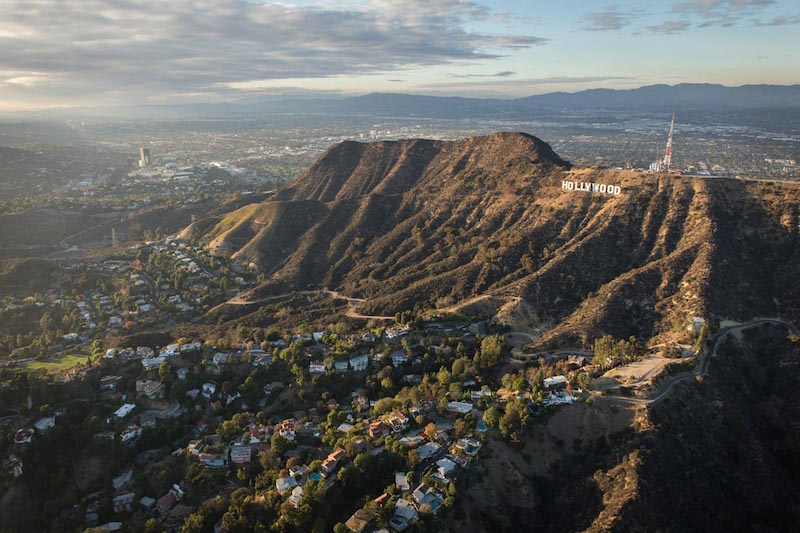 Hollywood Sign Aerial Shot
