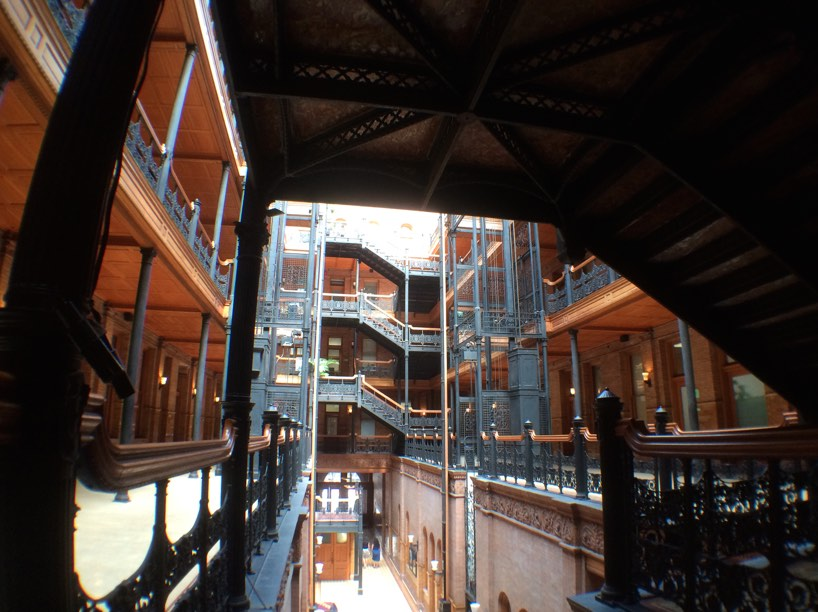 Under the Stairs at the Bradbury Building