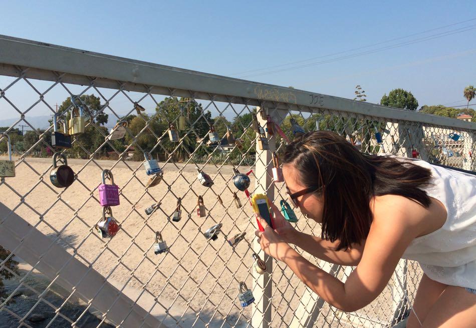 Christina at Love Lock Bridge