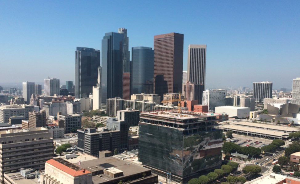 View of Downtown Los Angeles from City Hall Observation Deck