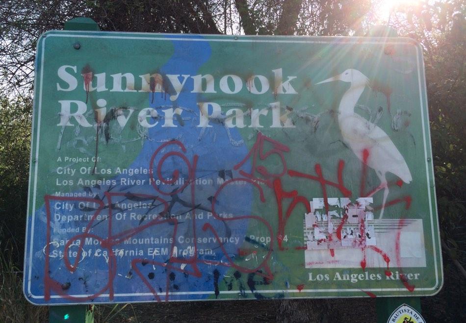 Sunnynook River Park Graffiti