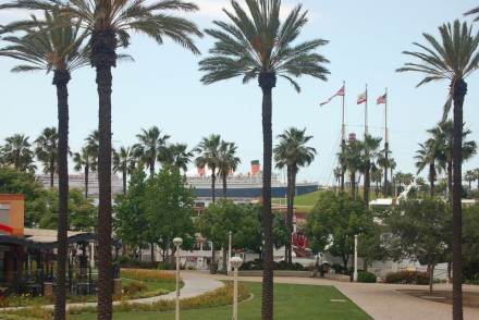 Queen Mary with Palm Trees