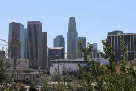 View of DTLA from Vista Hermosa Park