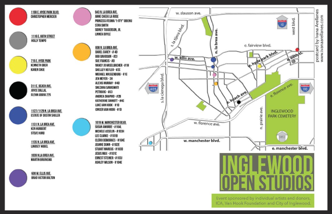 Inglewood Open Studios 2015 Map