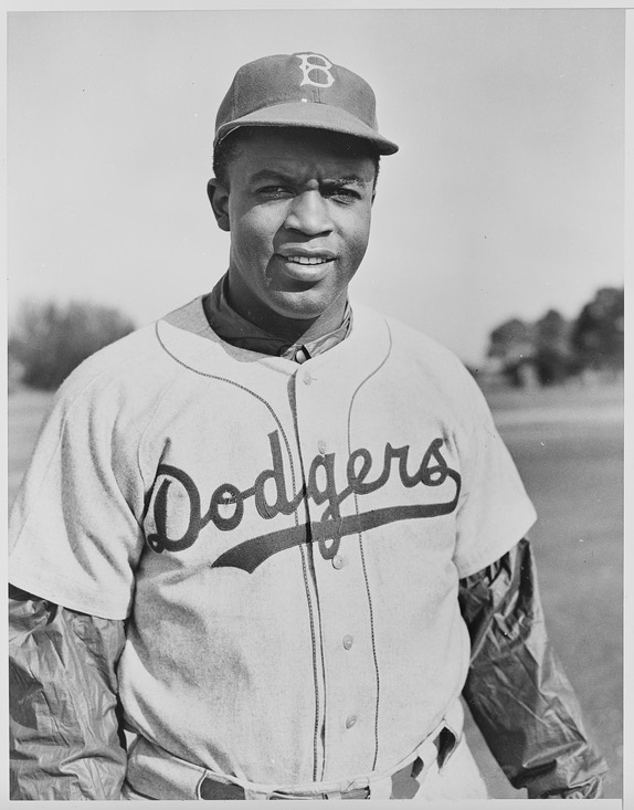 Jackie Robinson with the Dodgers