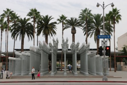 Wilshire Blvd outside LACMA