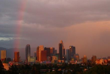 Rainbow over DTLA