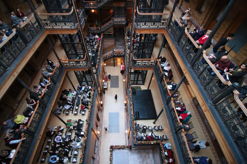 Bradbury Building Top Floor View